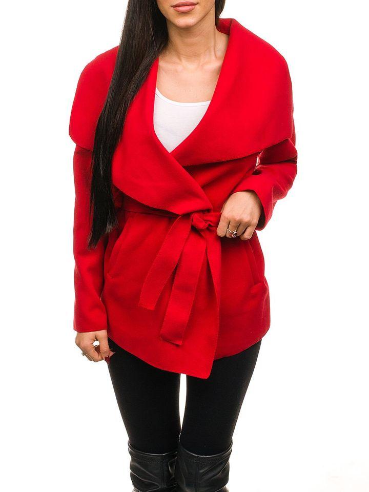 Damen mantel kurz rot