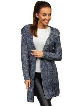 Bolf Damen Pullover Cardigan Dunkelblau  MM1806