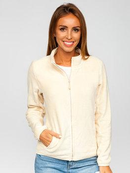 Bolf Damen Fleece Sweatshirt Beige  HH001