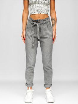 Bolf Damen Jeanshose Grau  DM312N-3