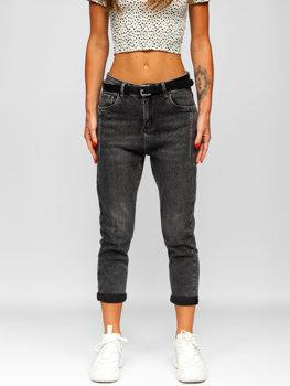 Bolf Damen Jeanshose skinny mit Gürtel Schwarz  BF15-C
