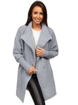 Bolf Damen Mantel Grau  7118-1