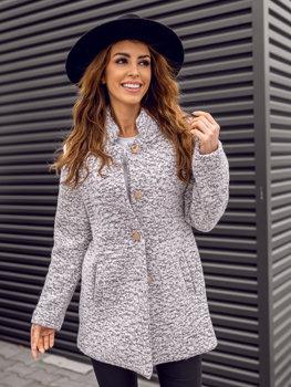 Bolf Damen Mantel Weiß  6011-1