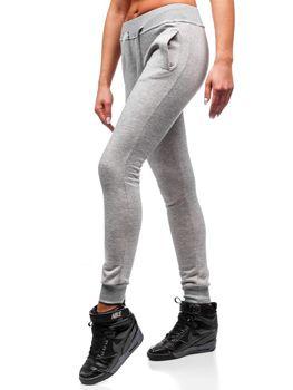 Bolf Damen Sporthose Grau  77001