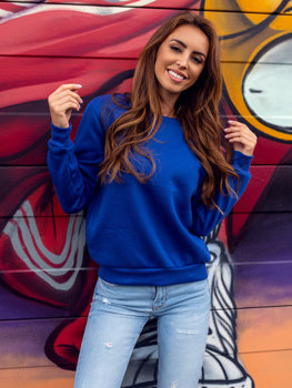Bolf Damen Sweatshirt Kobaltblau  W01