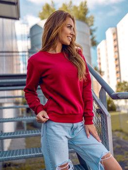 Bolf Damen Sweatshirt Weinrot  W01