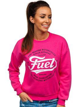 Bolf Damen Sweatshirt mit Motiv Rosa  KSW1013
