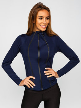 Bolf Damen Sweatshirt ohne Kapuze Dunkelblau  HH020