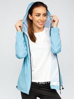 Bolf Damen Übergangsjacke Sport Jacke Azurblau HH036