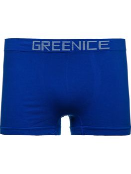 Bolf Herren Boxershorts Blau  PL4501