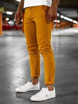 Bolf Herren Hose Chino Orange  1146
