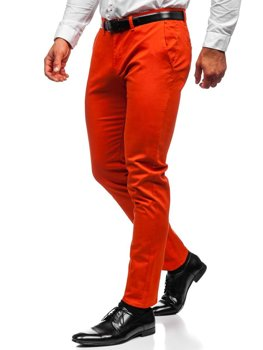 Bolf Herren Hose Chinos Orange  1143