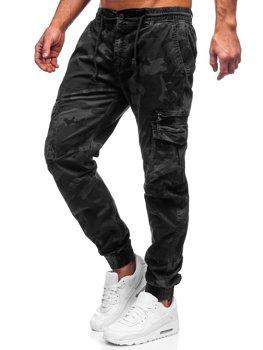 Bolf Herren Hose Jogger Pants Cargohose Schwarz CT6026S0