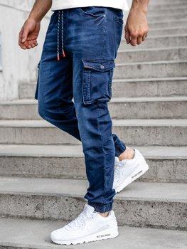 Bolf Herren Jeanshose Jogger Pants Cargohose Dunkelblau R51001W0