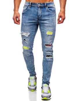 Bolf Herren Jeanshose skinny fit Dunkelblau  KA1873