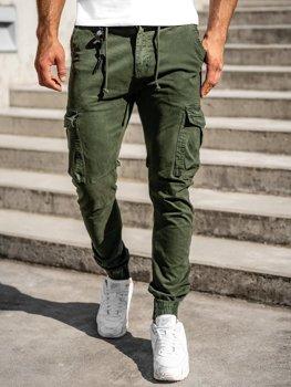 Bolf Herren Jogger Pants Cargohose Dunkelgrün  CT6705