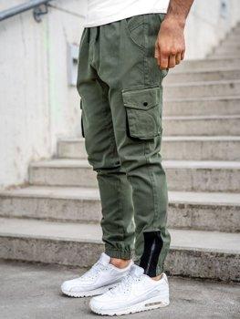 Bolf Herren Jogger Pants Cargohose Khaki  0705