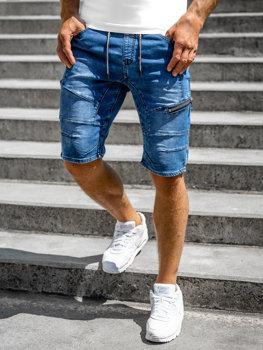 Bolf Herren Kurze Hose Jeans Shorts Dunkelblau  KG3600-3