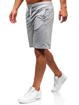 Bolf Herren Kurze Sporthose Grau  AA10-A