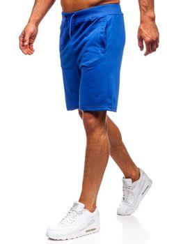 Bolf Herren Kurze Sporthose Mittelblau  AA10-A