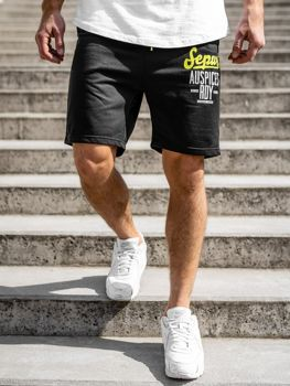 Bolf Herren Kurze Sporthose Schwarz  EX07-1