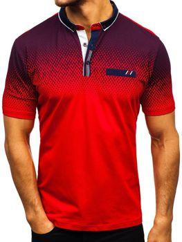 Bolf Herren Poloshirt Rot  6599