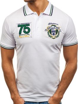 Bolf Herren Poloshirt Weiß 0605
