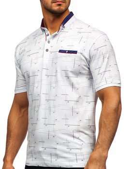 Bolf Herren Poloshirt mit Motiv Weiß 192232