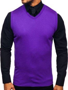 Bolf Herren Pullover Ärmellos Violett  2500