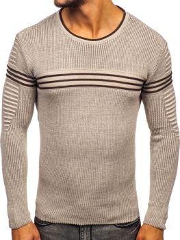 Bolf Herren Pullover Beige  0001