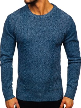 Bolf Herren Pullover Blau H1937