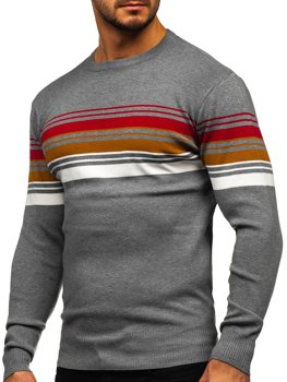 Bolf Herren Pullover Grau  H2061