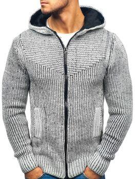 Bolf Herren Pullover Grau-Schwarz  20008