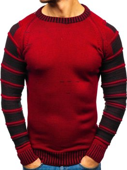 Bolf Herren Pullover Rot  6007