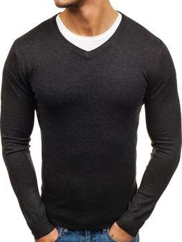 Bolf Herren Pullover V-Neck Anthrazit 003