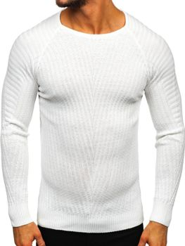 Bolf Herren Pullover Weiß  285