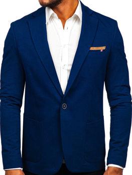 Bolf Herren Sakko Elegant Blau 1652