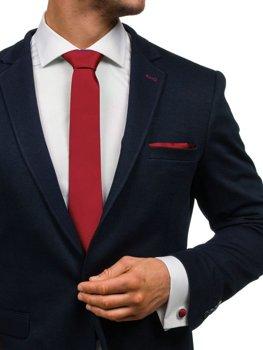 Bolf Herren Set Krawatte, Manschettenknöpfe, Einstecktuch Weinrot  KSP01
