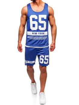 Bolf Herren Set T-Shirt + Kurze Hose  Blau 100777