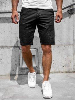 Bolf Herren Shorts Kurze Hose Schwarz  6139