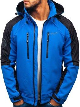 Bolf Herren Softshell Jacke Blau  P06
