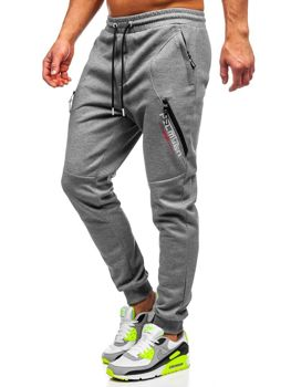 Bolf Herren Sporthose Grau  Q1041