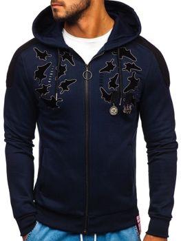 Bolf Herren Sweatshirt mit Reißverschluss Dunkelblau  GK32