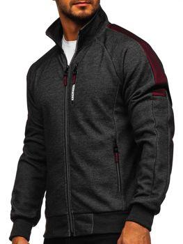 Bolf Herren Sweatshirt mit Reißverschluss Schwarz  TC1050