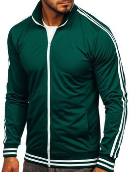 Bolf Herren Sweatshirt mit Reißverschluss retro style Grün  11113