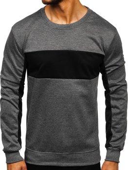Bolf Herren Sweatshirt ohne Kapuze Dunkelblau JZ11050
