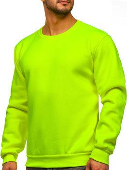 Bolf Herren Sweatshirt ohne Kapuze Gelb-Neon  2001