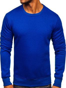 Bolf Herren Sweatshirt ohne Kapuze Kobaltblau  2001