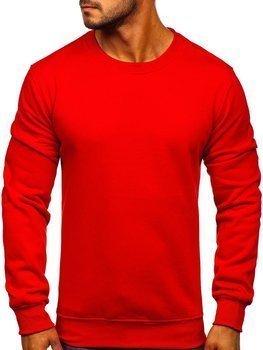 Bolf Herren Sweatshirt ohne Kapuze Rot  BO-01