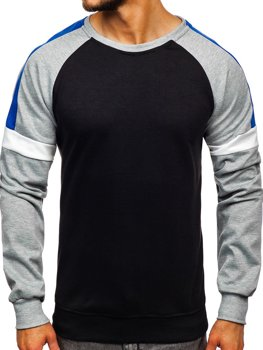 Bolf Herren Sweatshirt ohne Kapuze Schwarz JZ11038